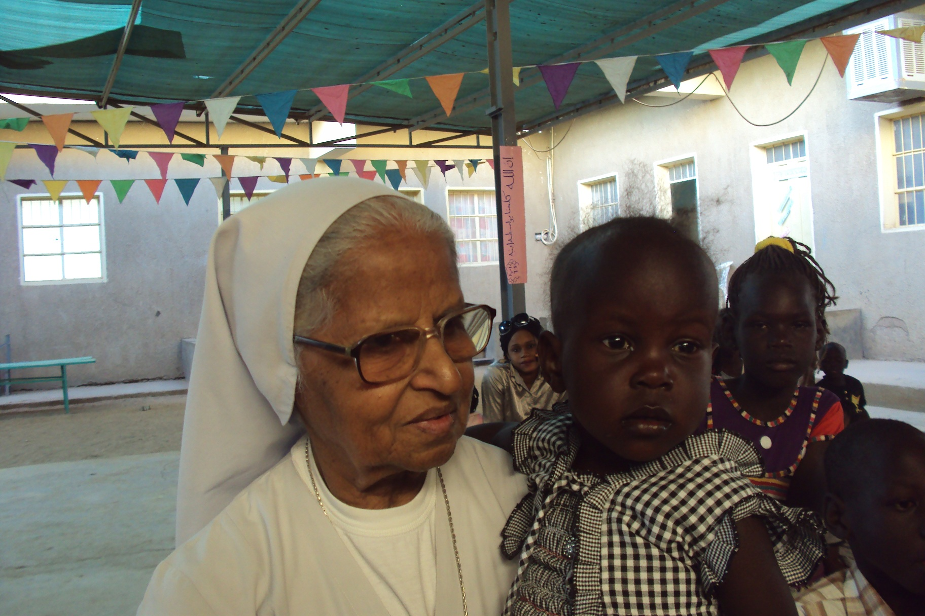 Sr. Josephine and the little Josephine who was afraid of the donkey